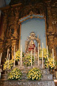Altar mayor durante la novena