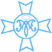 Esquema del escudo azul de la Hermandad