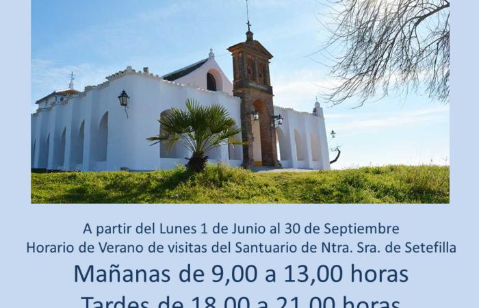 Nuevo Horario de Verano de visitas al Santuario de Ntra. Sra. de Setefilla